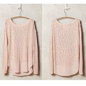 Deletta Anthropologie Pink Nubby Circle Tee Large